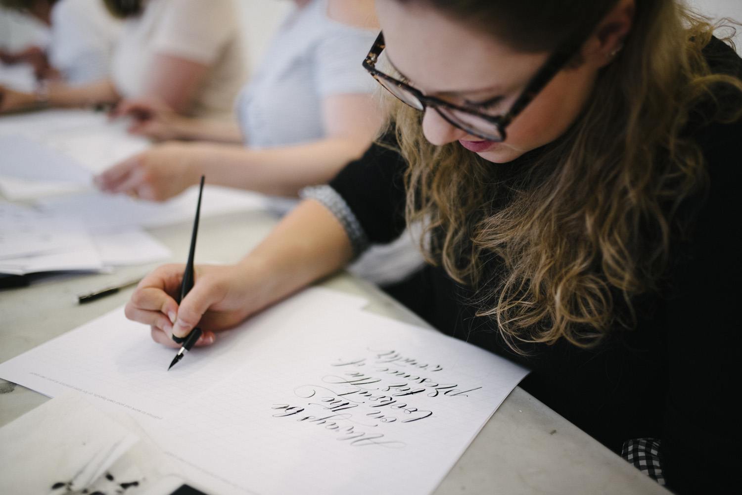 A little more info about my summer calligraphy workshop
