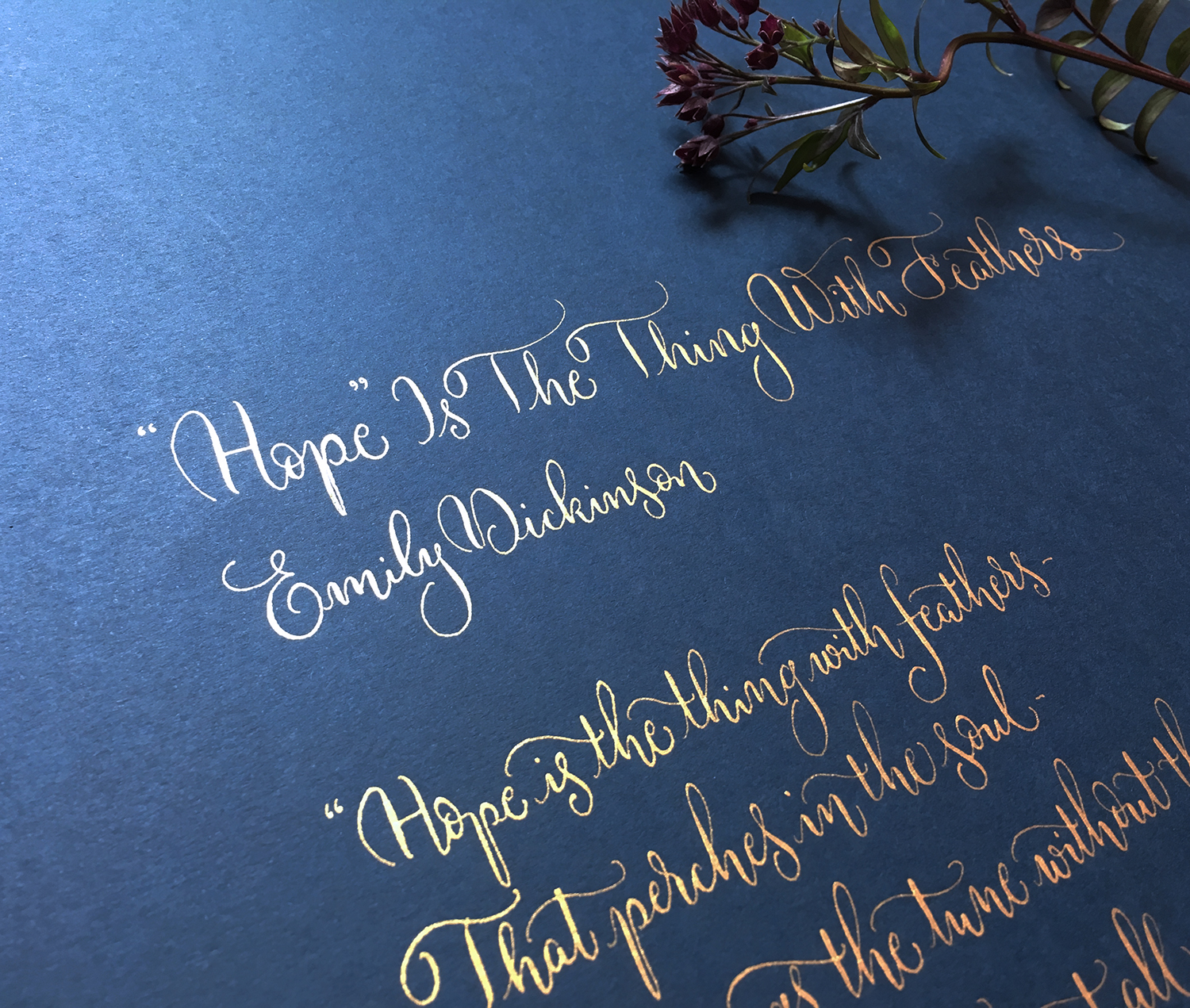 Hope Is The Thing With Feathers – Emily Dickinson