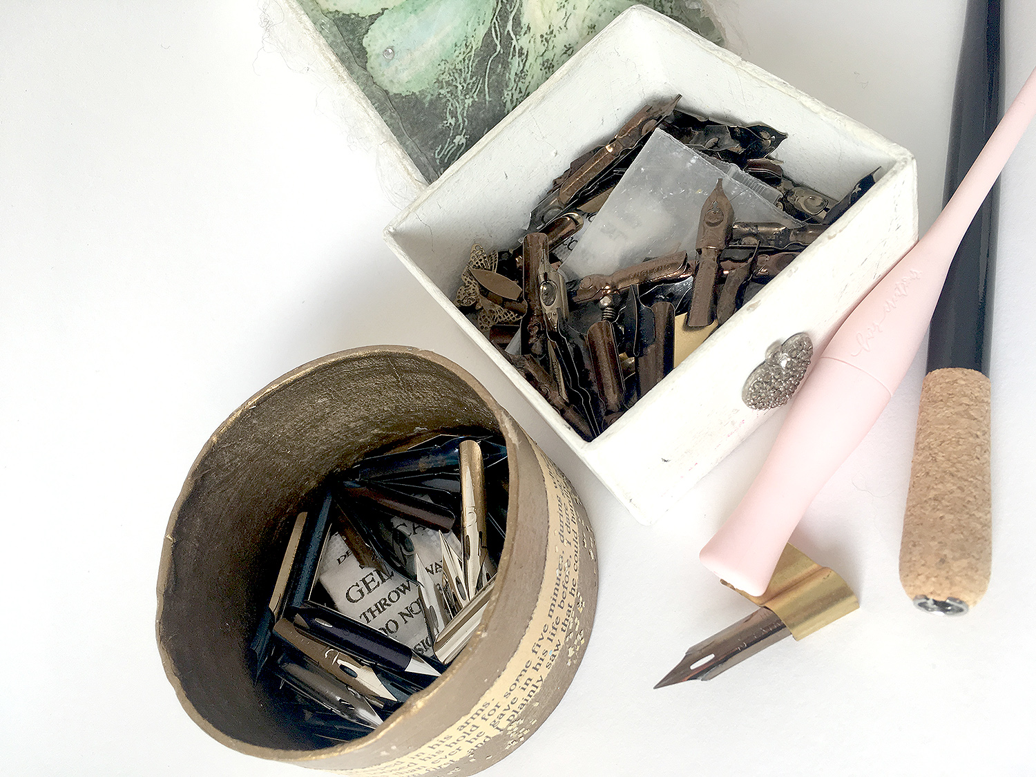 Rusty nibs! How the internet tells you to care for calligraphy nibs, and what I actually do!