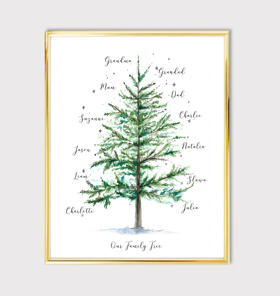 Christmas family tree gift idea – NEW!