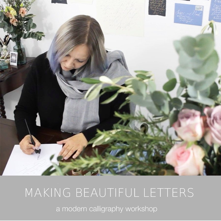 Free modern calligraphy online tutorial – for one month only!