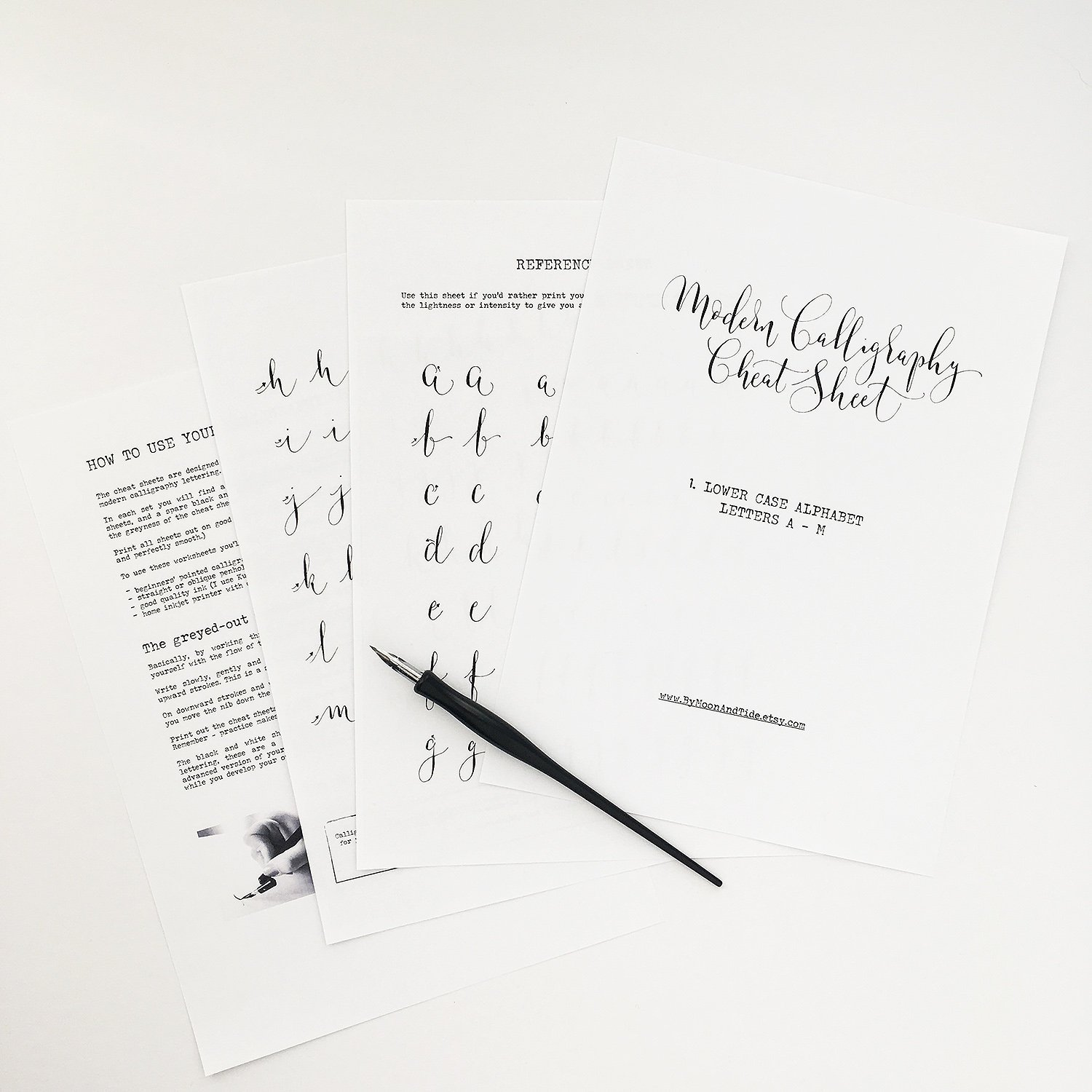 Calligraphy cheat sheets and beautifully cheeky swears – 50% OFF!