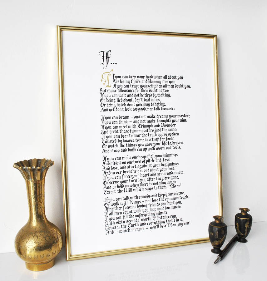 Not On The High Street shoppers – save 30% on a classic poem gift!