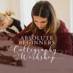 beginners calligraphy workshop manchester may 2019