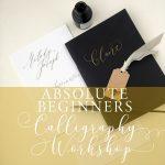 modern calligraphy workshop in bolton