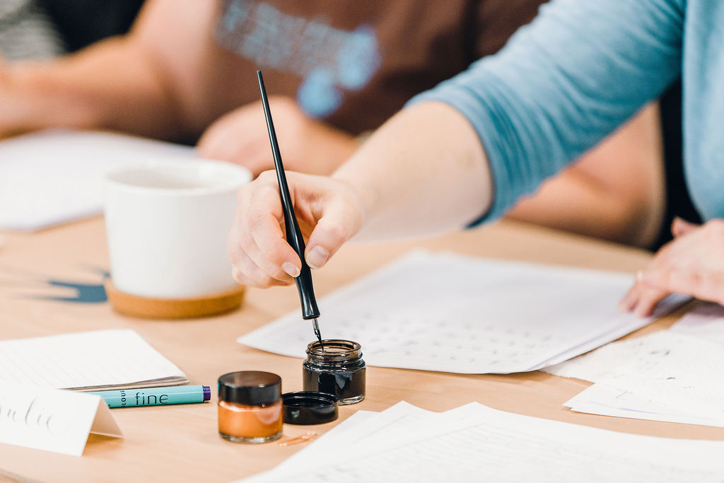Modern Calligraphy Classes at LEAF on Portland Street