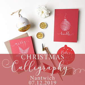 Christmas calligraphy in nantwich cheshire