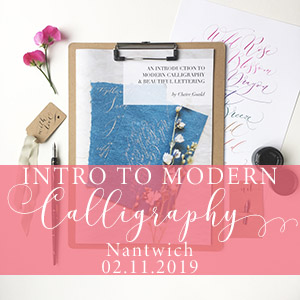 Modern calligraphy workshop Nantwich 2nd November