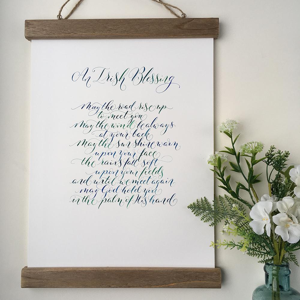 Irish Blessing new home wedding calligraphy gift
