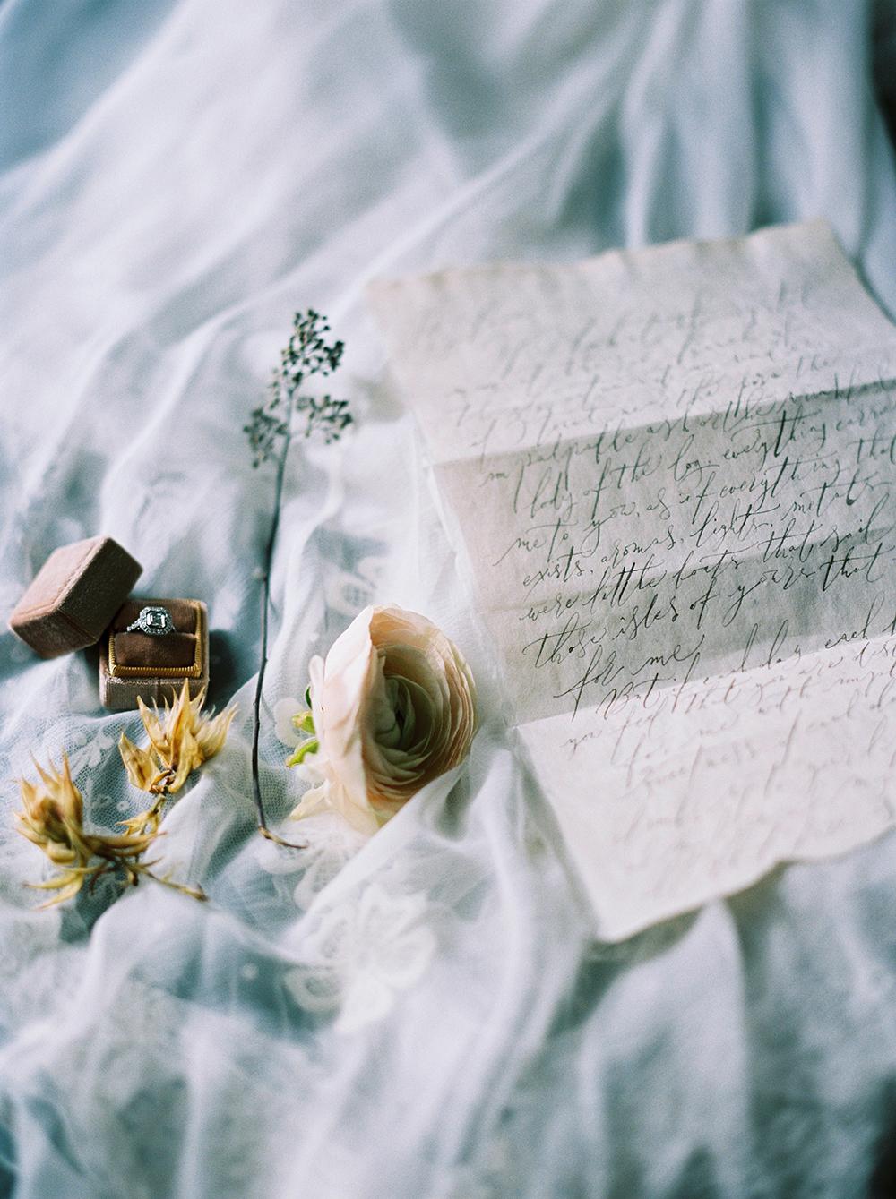 romantic alternative calligraphy love letter UK