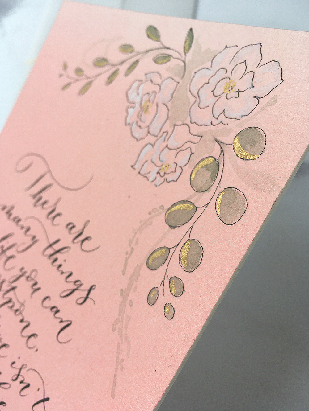 bespoke calligraphy illustration close up