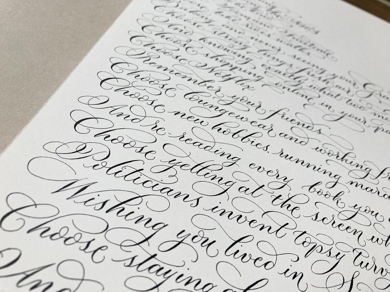 Political calligraphy UK